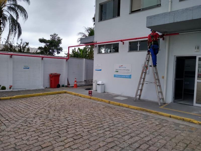 Instalação sistema de incendio