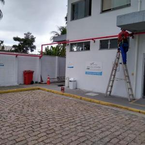 Instalação de sistema contra incendio