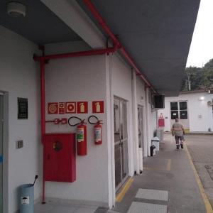 Placas de sinalização de incendio