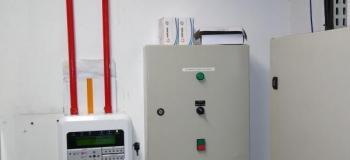 Instalação central de alarme de incendio